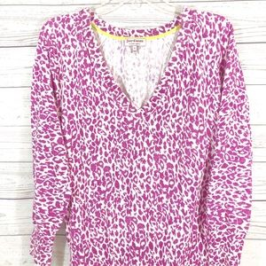Juicy Couture Cheetah Print V-Neck Sweater Size S